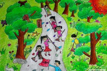 烈士陵园扫墓记关于清明节的绘画图片