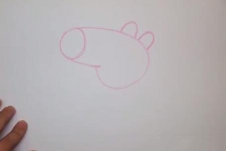 小猪佩奇卡通画步骤教程之佩佩猪的妈妈