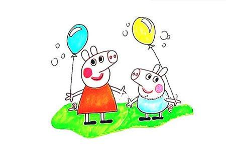 教你画小猪佩奇和乔治