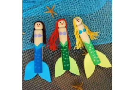 小美人鱼衣夹玩偶的手工制作方法