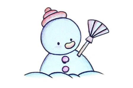 简笔画中级篇 雪人