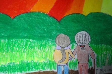 共度夕阳红九九重阳节绘画作品分享