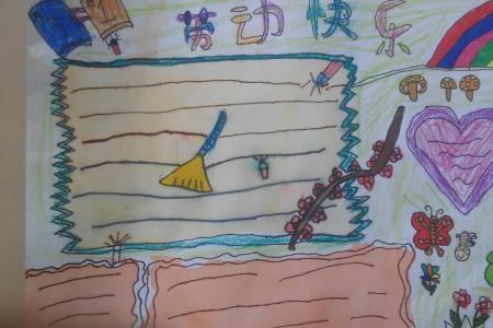 五一劳动节儿童画-今天你劳动了吗