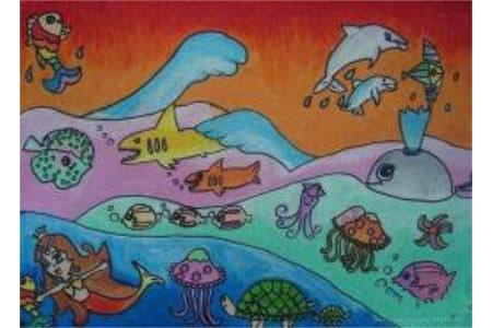 儿童画海底世界