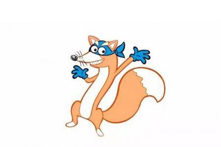朵拉历险记,捣蛋鬼狐狸的画法