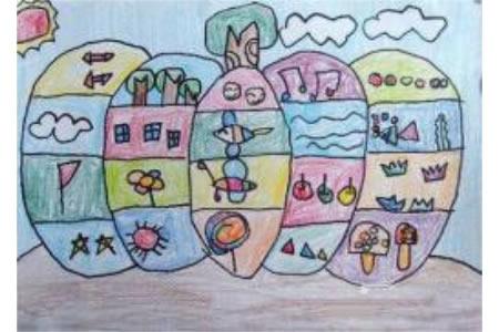万圣节南瓜儿童画-奇怪的万圣节南瓜