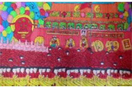 国庆阅兵式,欢庆国庆节儿童画作品分享