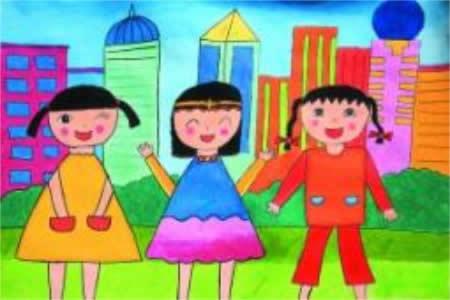 庆祝国庆节儿童画-孩子们眼中的国庆节