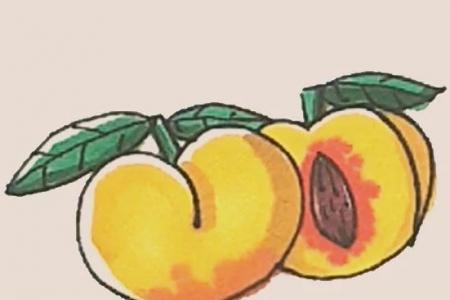 简笔画之黄桃