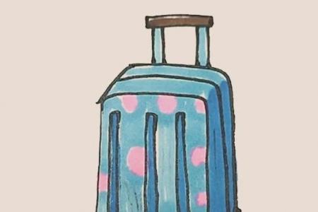 简笔画之行李箱