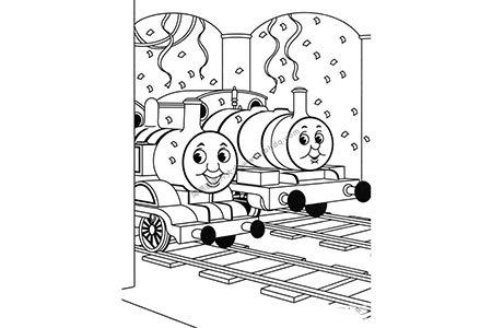 停着的小火车托马斯