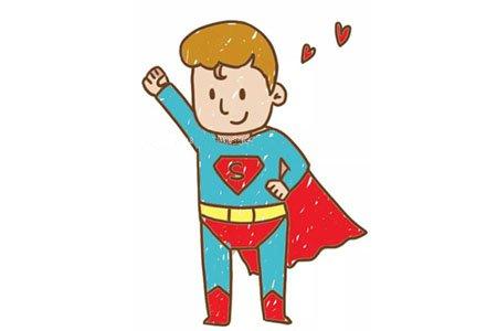 帅气的超人简笔画图片