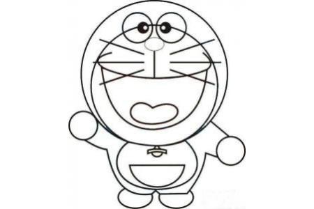 卡通人物简笔画 机器猫哆啦A梦简笔画