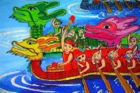 小学生端午节节日儿童画画图片