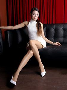 live白裙美腿丝袜写真
