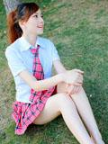 清纯长腿美少女甜美学生装乖巧可爱