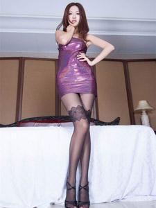 性感美女vicni长腿丝袜诱惑写真
