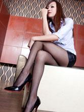 迷人腿模Miya高挑黑丝袜悠悠我心