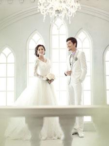 美麗美女新娘時尚婚紗寫真