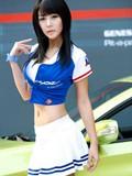 韩国美女车模李智友美图