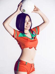 短发清纯足球宝贝-张小文