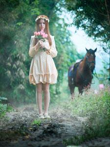 超纯美的天使私房甜美写真