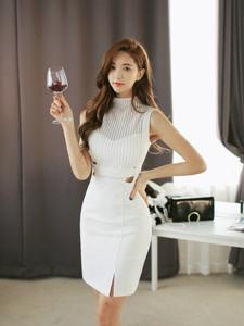 红酒美人儿优雅气质尽显