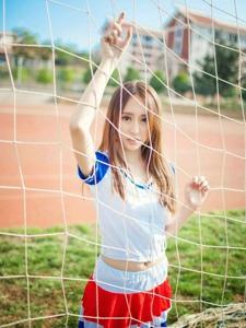 校園青春可愛活力足球寶貝