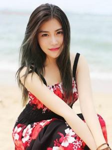 女神许诺Sabrina海边长裙气质魅力