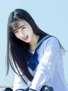 校园校服清新平刘海萌妹子可爱迷人