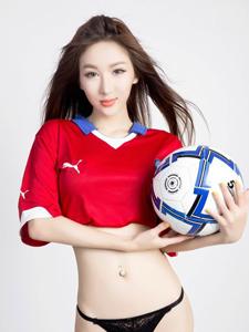 90后极品美女足球宝贝性感写真