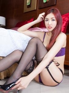 台湾腿模vanessa性感内衣丝袜美腿美胸