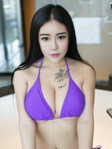 极品尤物梦瑶销魂紫色内衣巨乳勾引人