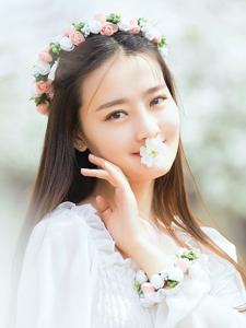 花环唯美写真樱花园娇艳无比