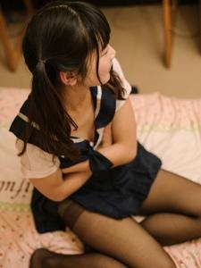 娇羞双马尾小女友黑丝水手服女仆服极致诱惑
