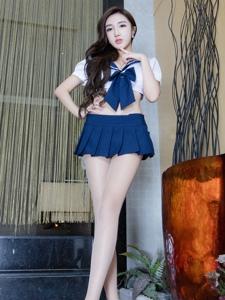 高清丝袜美女Syuan性感水手服迷人图片