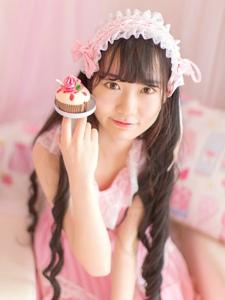 可爱少女粉嫩私房蛋糕下午茶时光