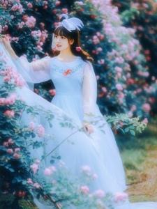 蔷薇少女唯美公主范青纱仙境写真