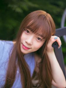 齐刘海清新少女健身器材可爱唯美写真