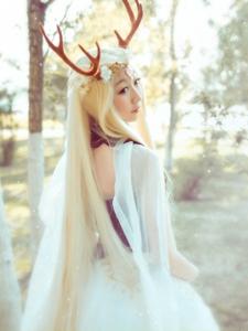 奇迹暖暖精灵鹿后唯美cos摄影作品
