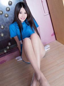 蓝色妖姬Aries长腿肉丝魅惑十足