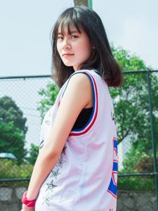 校園籃球少女魅力操場活力寫真