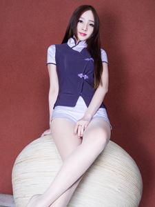 旗袍美女Hannah私房写真秀完美大长腿