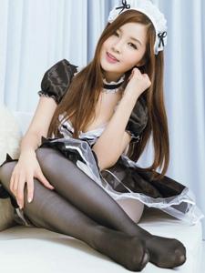 小清新萝莉丝袜控女仆装甜美制服写真