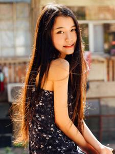 黑长直清新女神户外清秀写真唯美写真