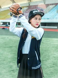 清纯棒球帽元气少女神采飞扬小清新美照
