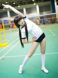 柔美体操妹子体育馆里运动美照