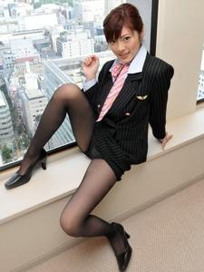 性感黑色丝袜空姐私房美腿极致诱惑