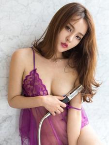 性感尤物珍妮花情趣薄纱睡衣诱惑写真
