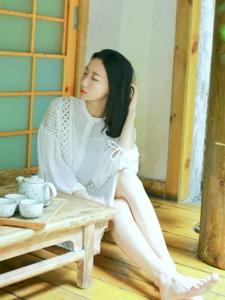 素雅美女热爱茶道文艺温婉